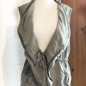 Max Jeans- 💯 Tencel Draped Utility Vest